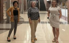 Art teacher Breanna Bierod and english teachers Julie Breeden and Jessica Walpole standing proudly during the last week of school. They are proud of themselves and the rest of the SHS community.